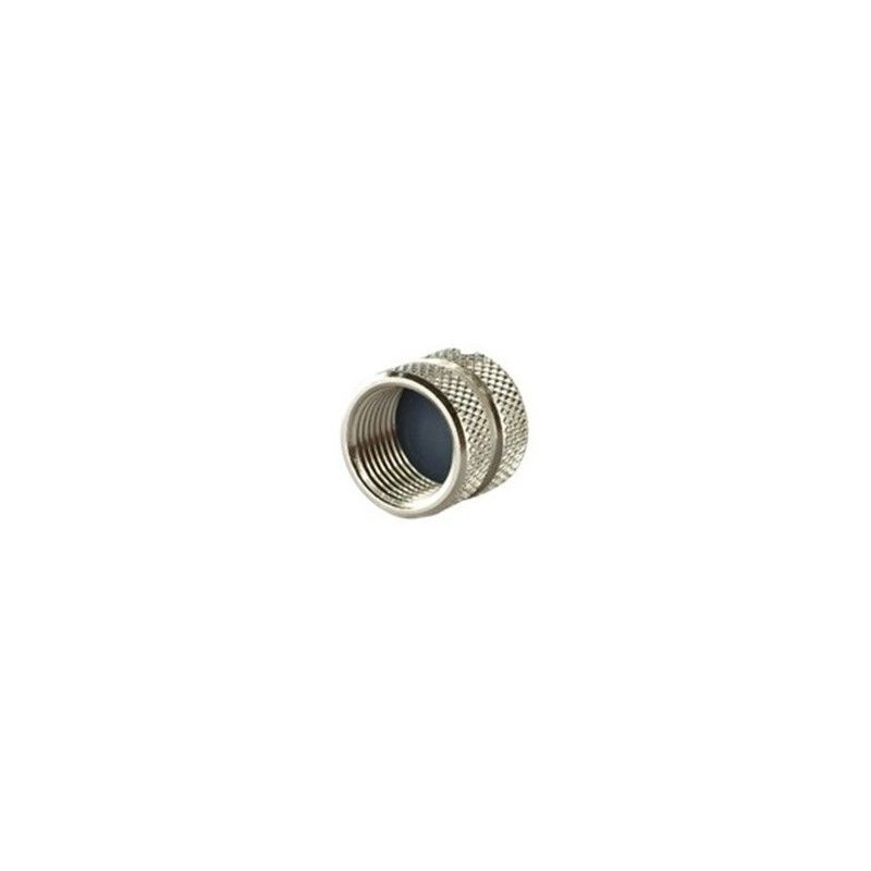 Metal cap to cover M12-male connector
