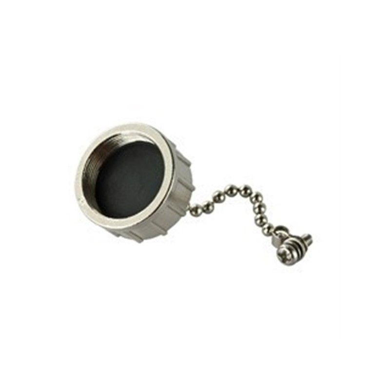 Metal cap with chain for RJ45 connector