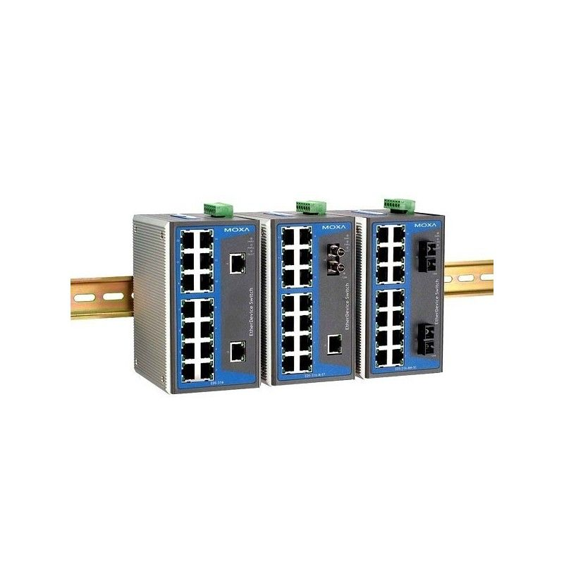 Commutateurs Ethernet non administrables de 15 10/100BaseT(X) ports