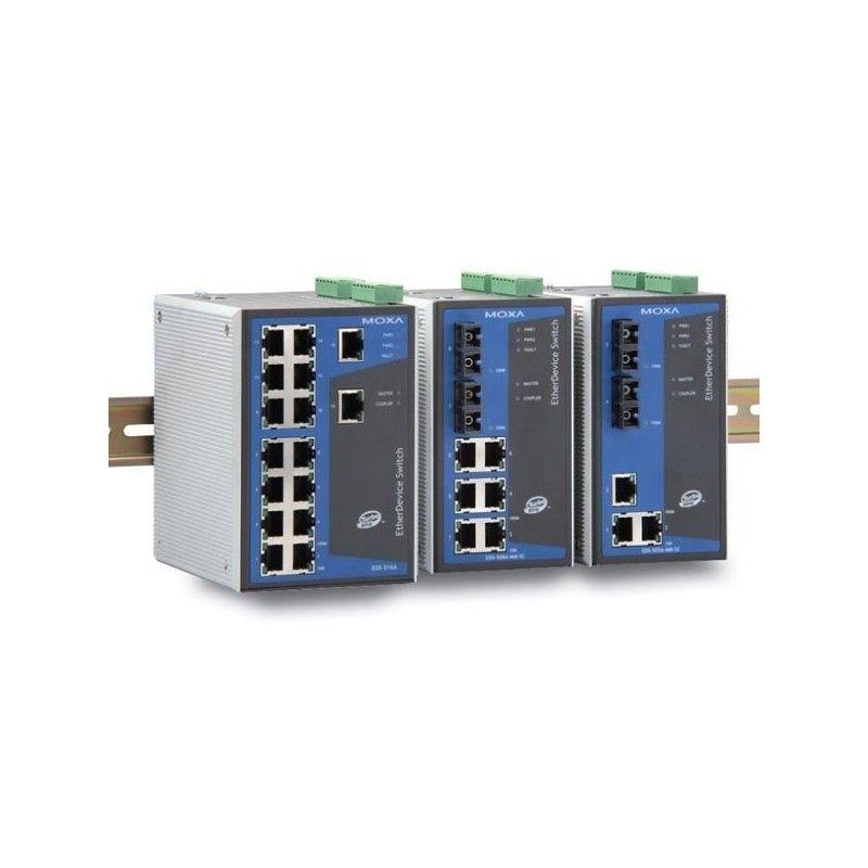 Commutateurs Ethernet administrables de 6 10/100BaseT(X) ports  2 mu