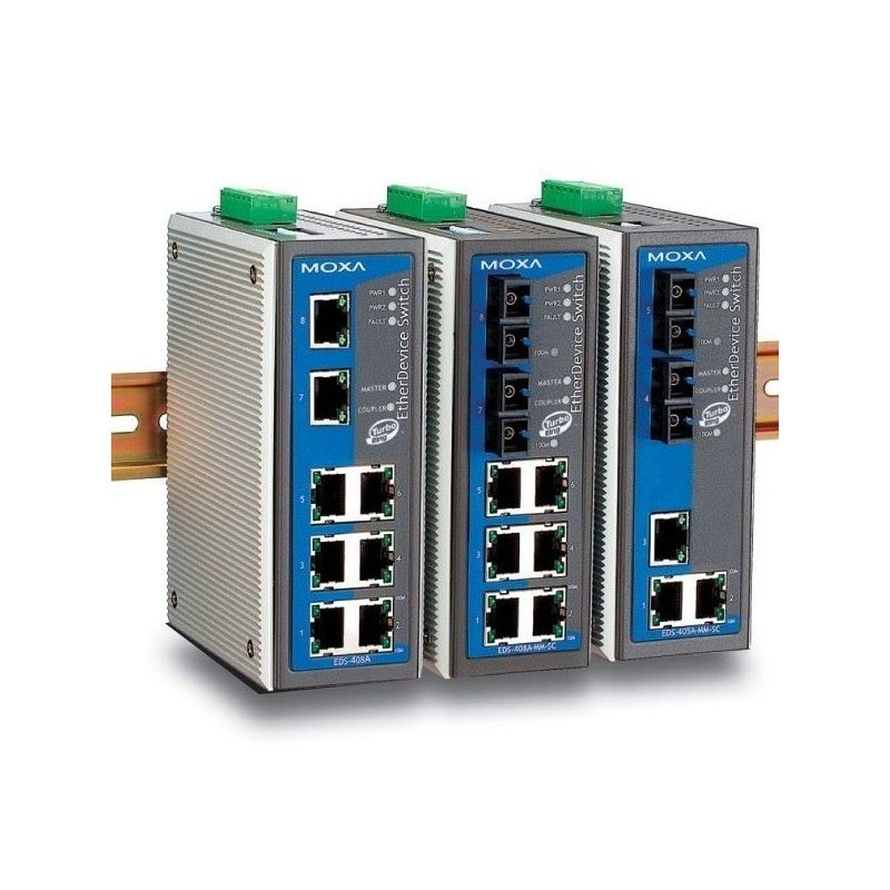 Commutateurs Ethernet administrables de 6 10/100BaseT(X) ports  2 si