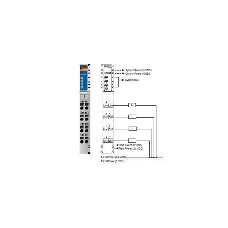 I/O Module  8DO  Sink  24VDC  0.5A  RTB