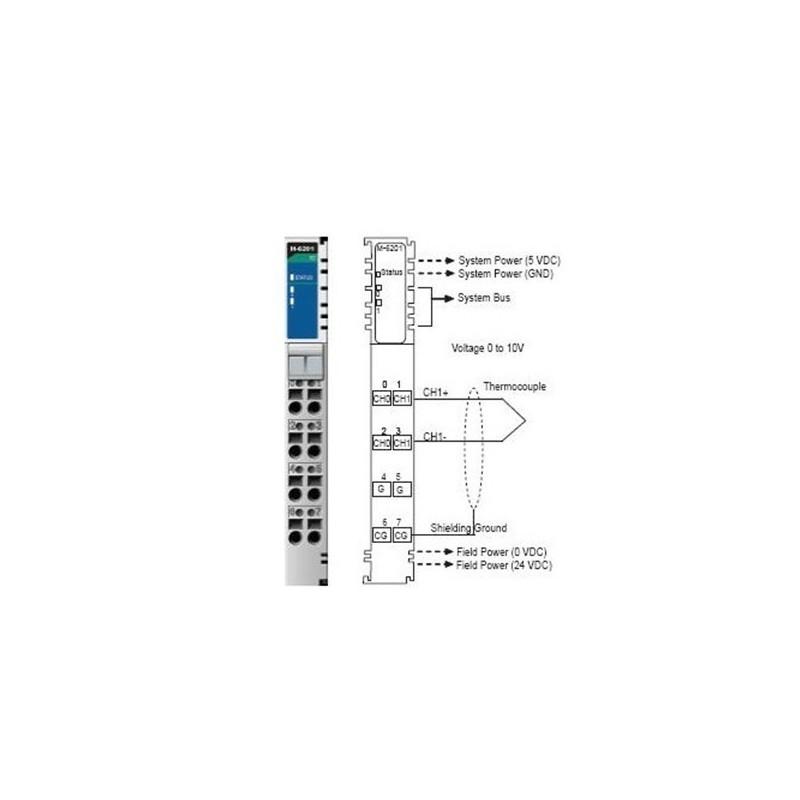 I/O Module  2AI  Thermocouple: 30mV (1uV/bit)  RTB