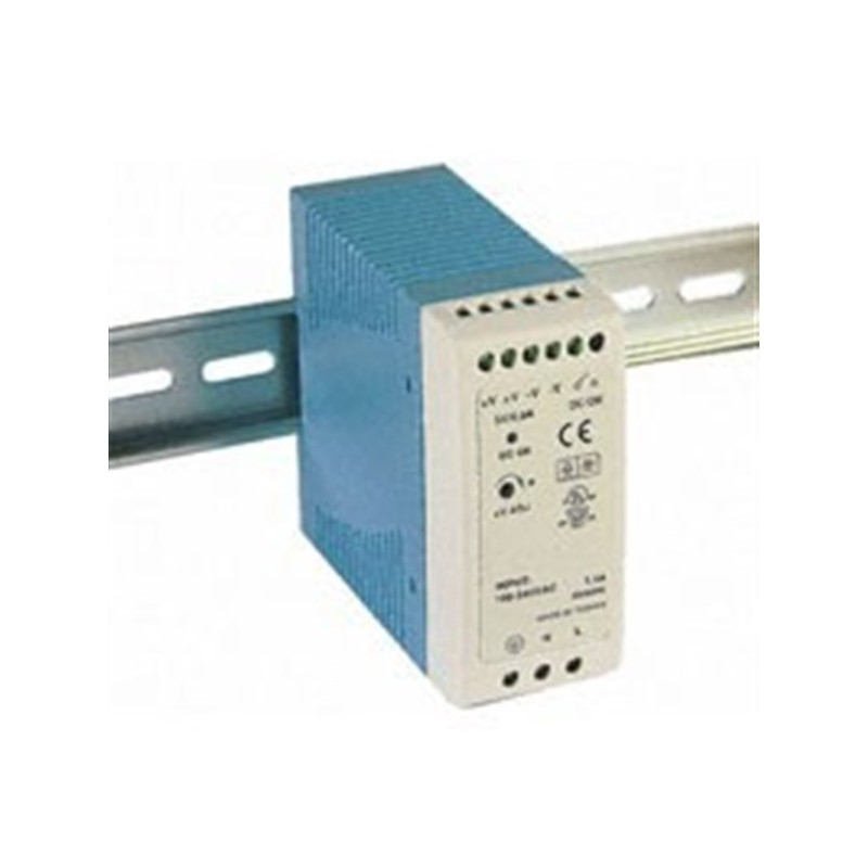 60W/2.5A DIN-Rail 24V VDC power supply with universal 85 to 264 VAC
