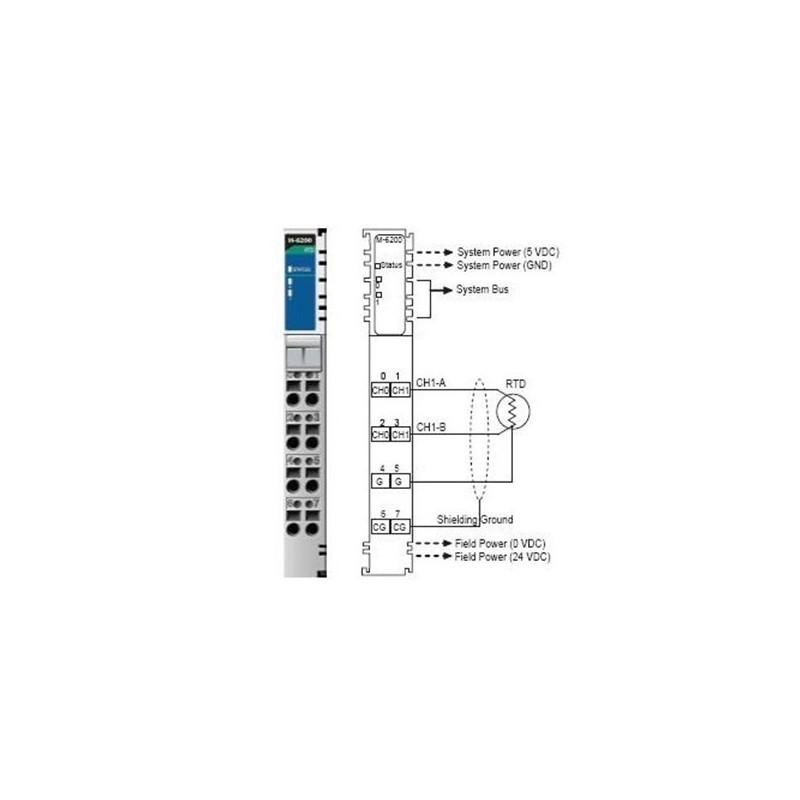 I/O Module  2AI  RTD: PT100  JPT100  RTB