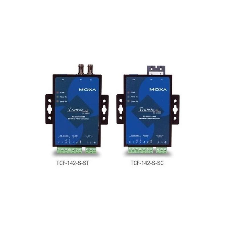 Convertisseurs de support RS-232/422/485 vers fibre optique. ST Sing