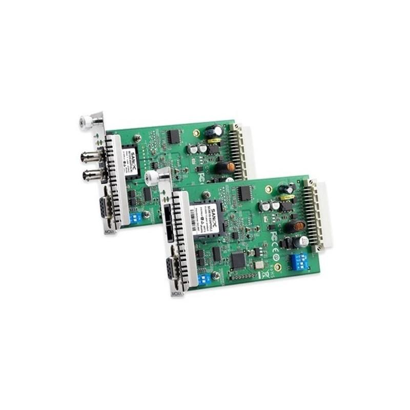 Modules e enchesser RS-232/422/485 vers fibre optique pour le sy