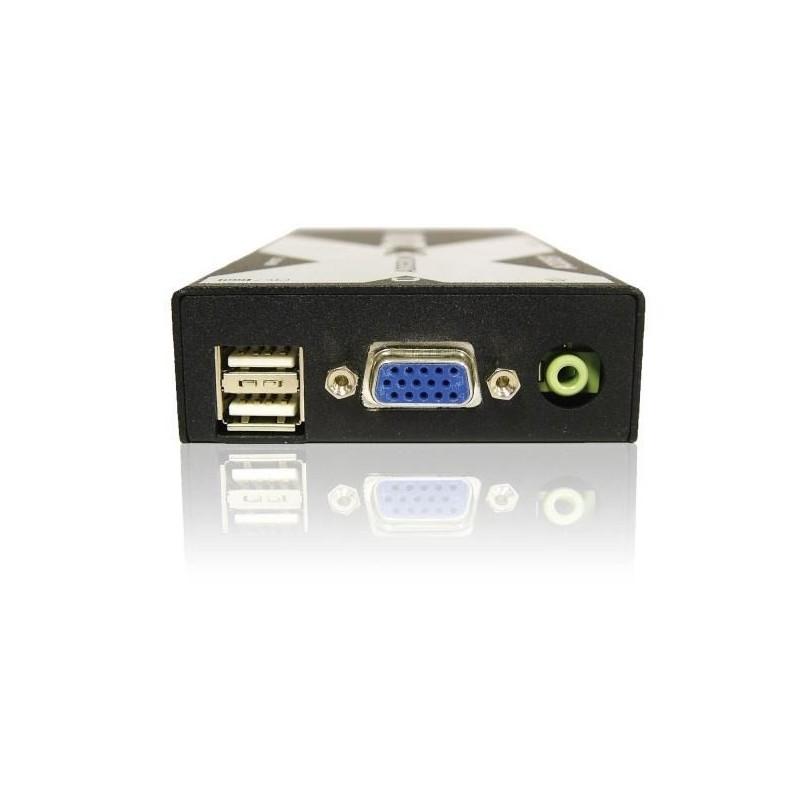 Recepteur KVM 300 metres VGA audio clavier souris USB sur cable ca