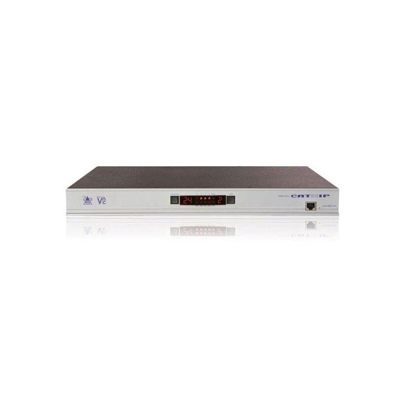 Switch KVM 24 ports serveurs avec 4 postes utilisateurs connectes