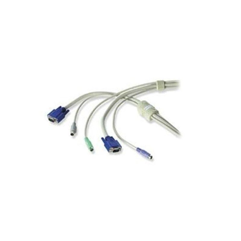 KVM Interface Cable USB & VGA - PS/2  & VGA 2m