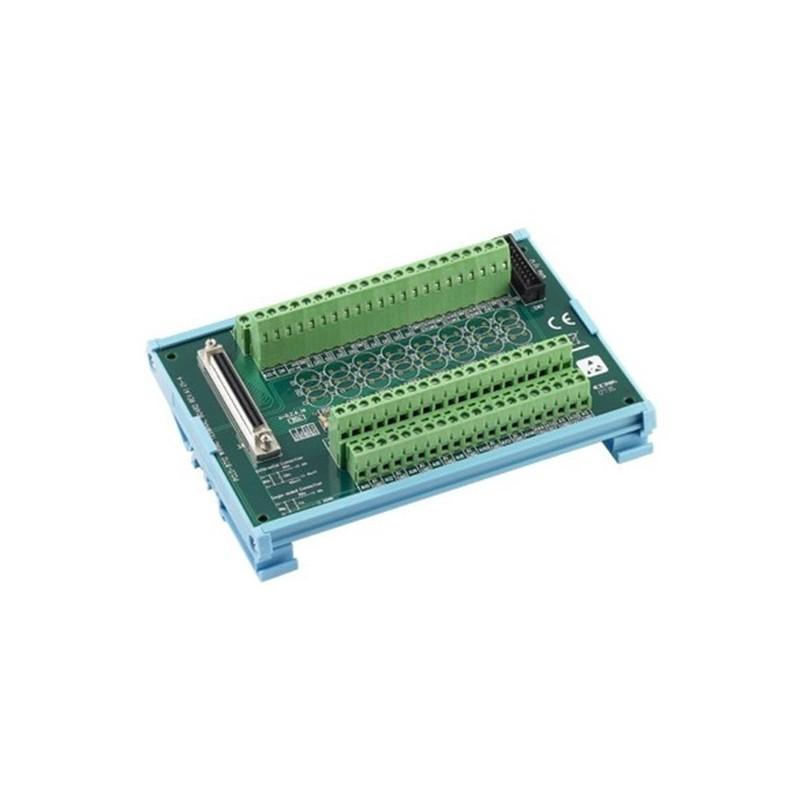 Platine avec bornier e vis pour carte PCI-1712 montage sur rail DI