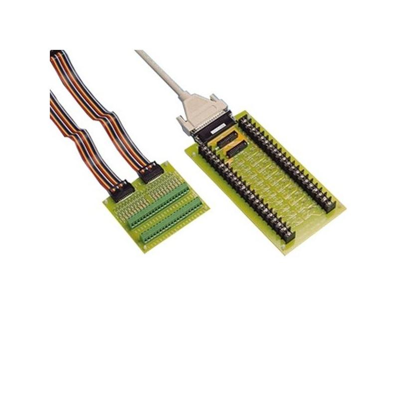 Platine avec bornier e vis vers 2 connecteurs 20 points pour ceb