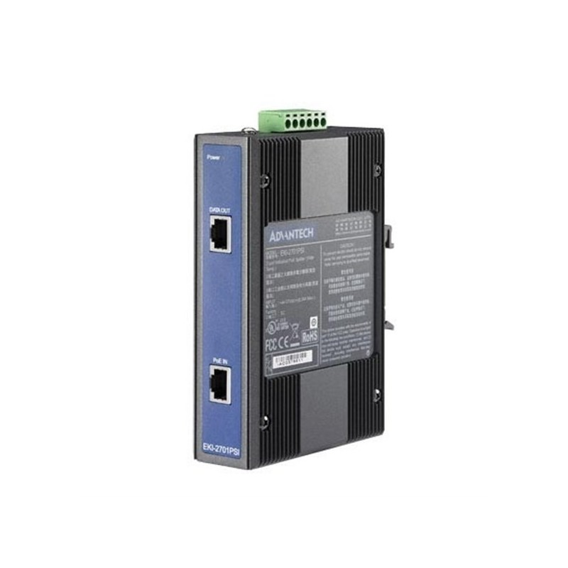 Industrial Ethernet PoE Splitter. wide temp.