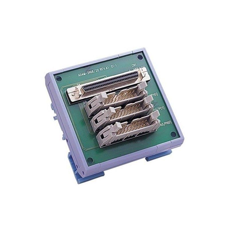 Bornier connecteur SCSI-II 68 points vers 3 connecteurs 20 pts pour