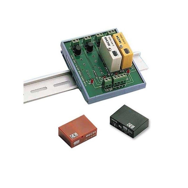 4-ch DIN-rail SSRI/O Carrier Module