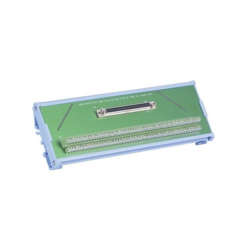 Bornier e vis vers connecteur SCSI-II 100 points montage sur rail
