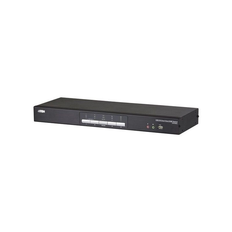 switch kvm 4 ports usb. audio dual-dvi + periph. usb