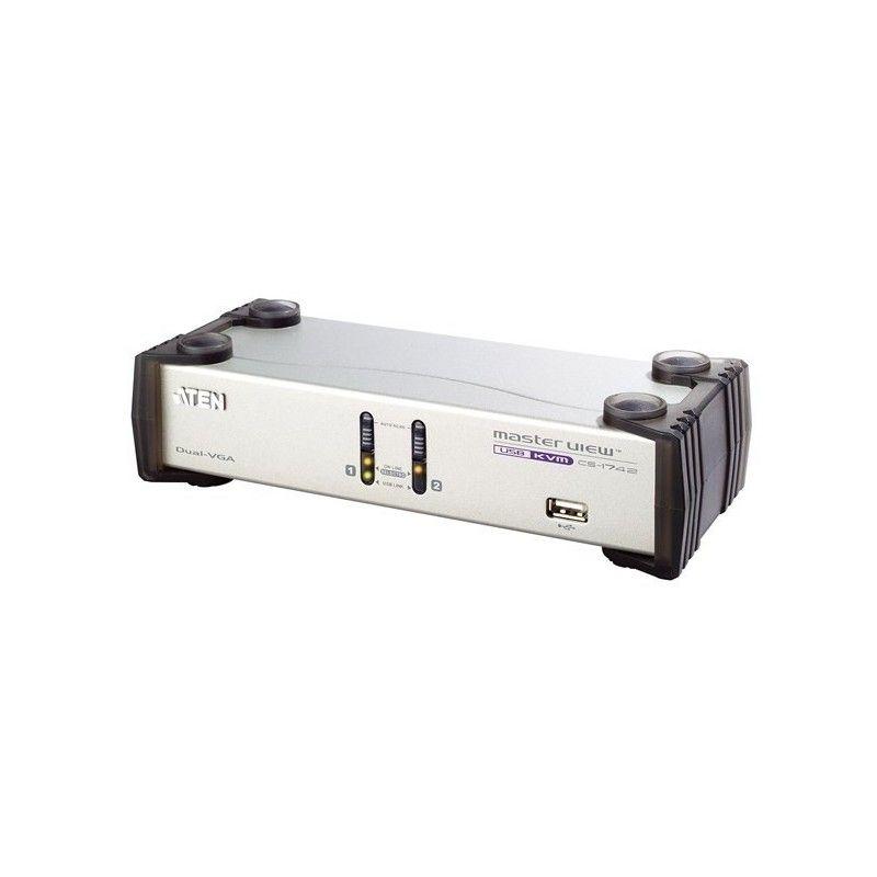 switch kvm desktop 2uc / dual video - usb + audio