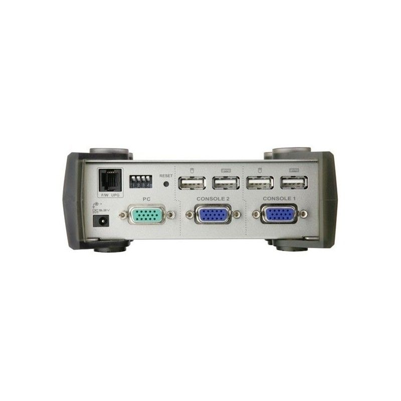 switch kvm 1uc / 2 consoles usb automatique