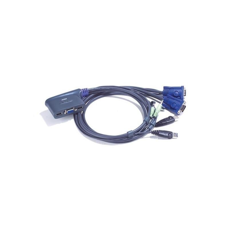 mini switch KVM 2 port USB et audio