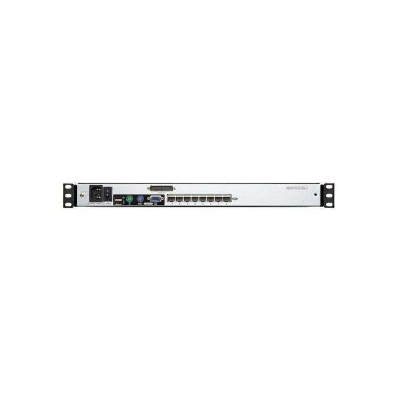 Switch KVM 8 Ports RJ45 et rail Dual Console 19