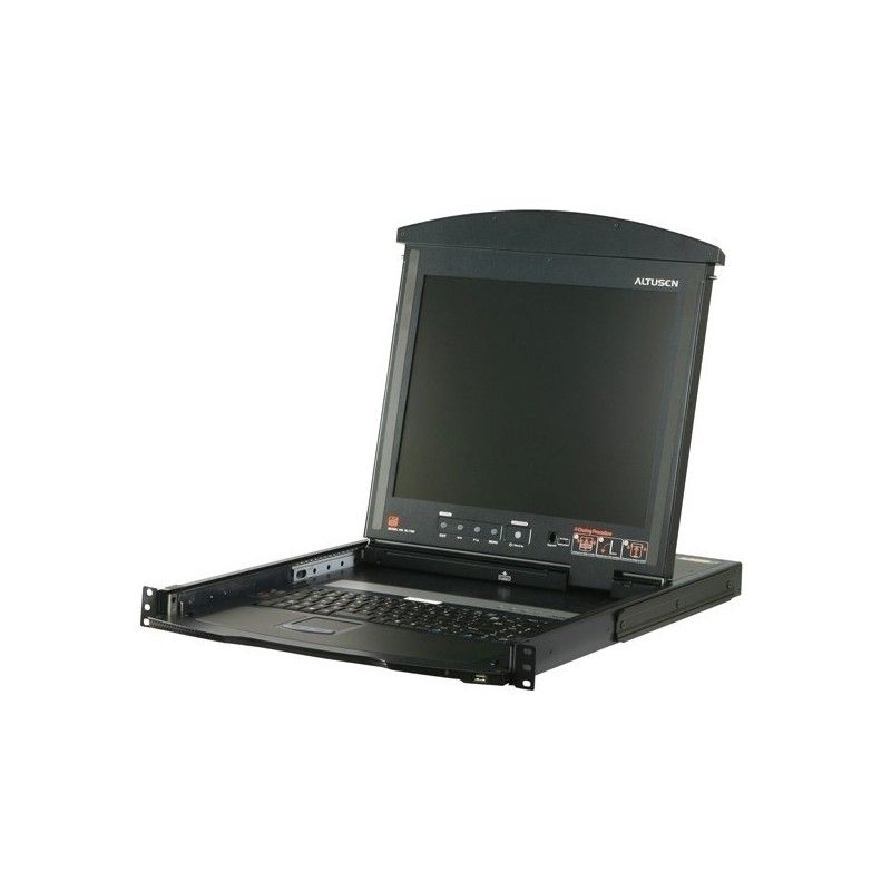 Dual rail 19 LCD PS/2-USB Console