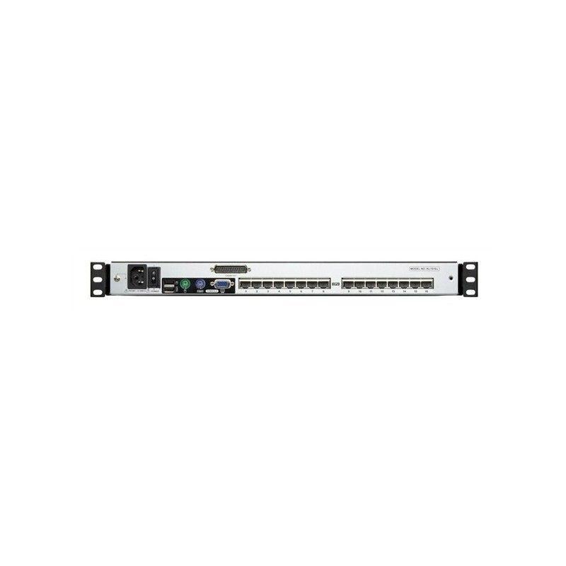 Switch KVM 16 Ports RJ45 et  double rail Dual Console 19