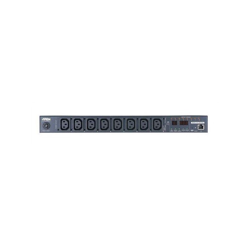 8 Port Eco PDU 1-U . 8xC13 . 10 Ampere . Port measurement