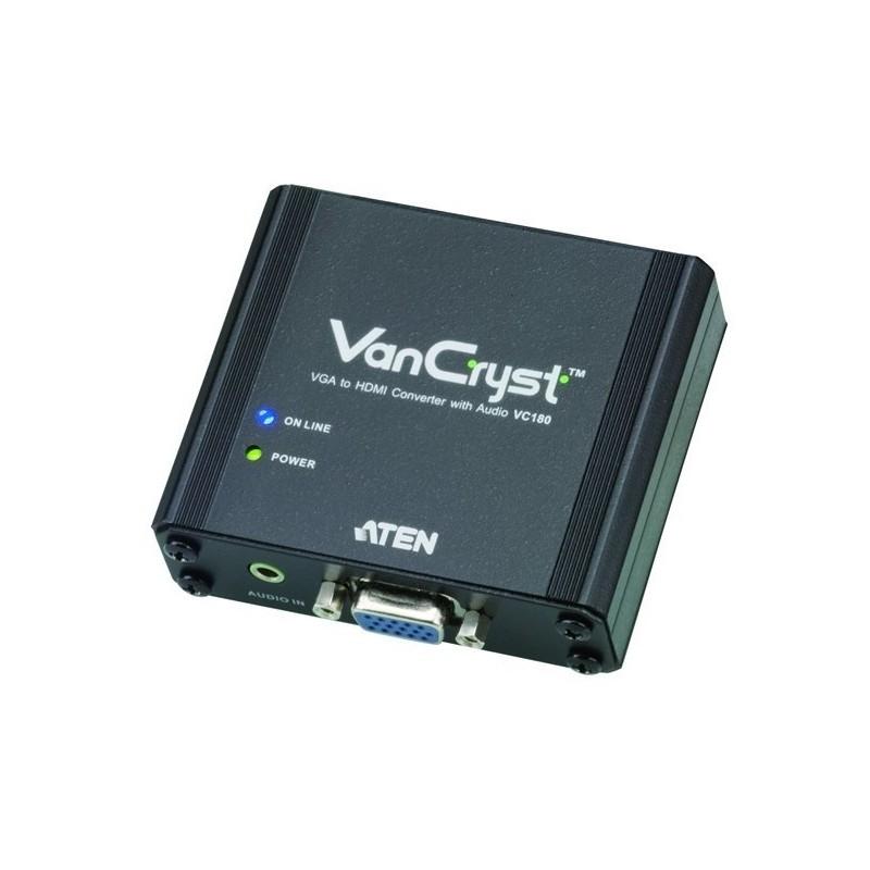 Convertiseur VGA vers HDMI et Audio