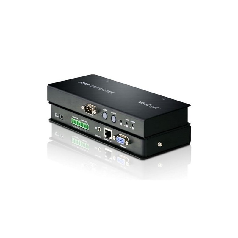 RJ45 Video Extender. Remote Unit (Receiver) Up To 300 M + Balanced A