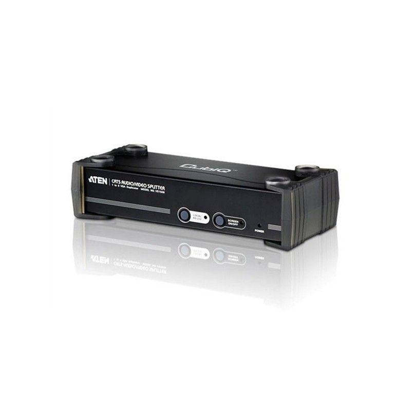 Splitter video 8 Ports RJ45 Audio RS232 450 metres 1600 x 1200