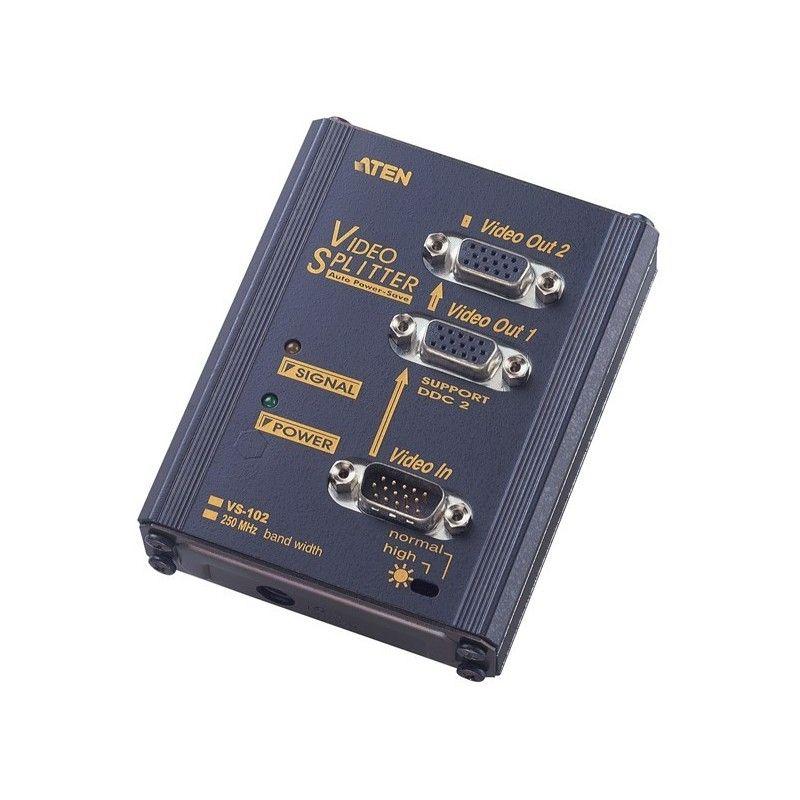 Splitter VGA - 2 ports. Bandwidth: 250MHZ - 1920x1440