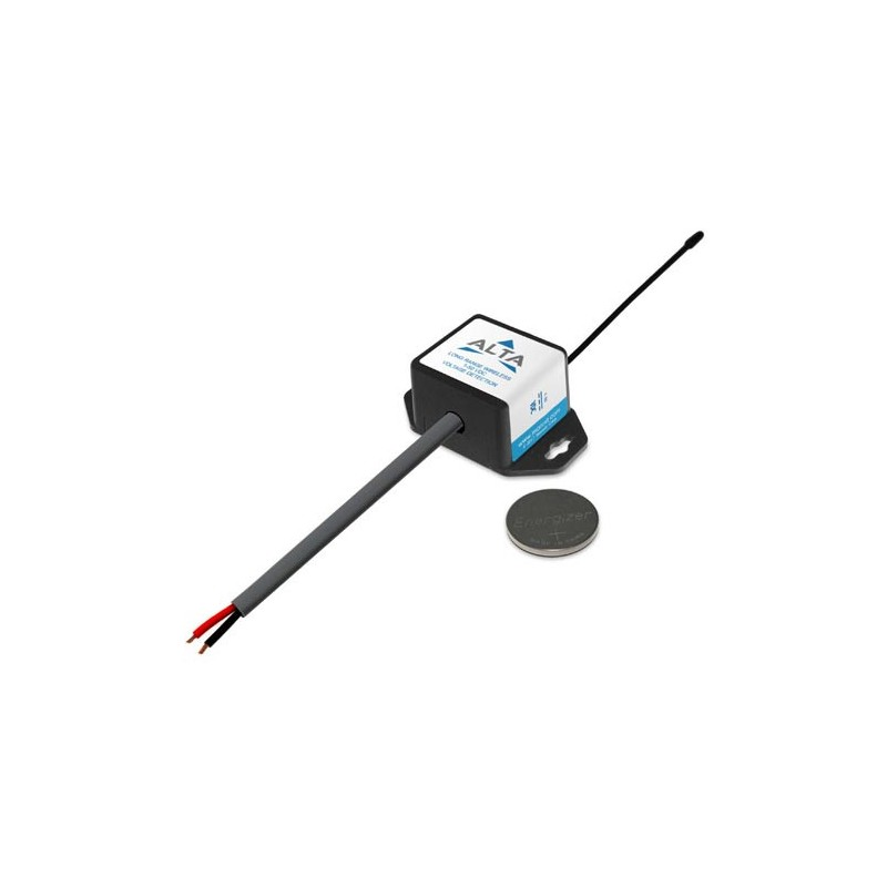 ALTA Détection de tension sans fil - 50 VDC - Alimenté par pile à monnaie (868MHz)