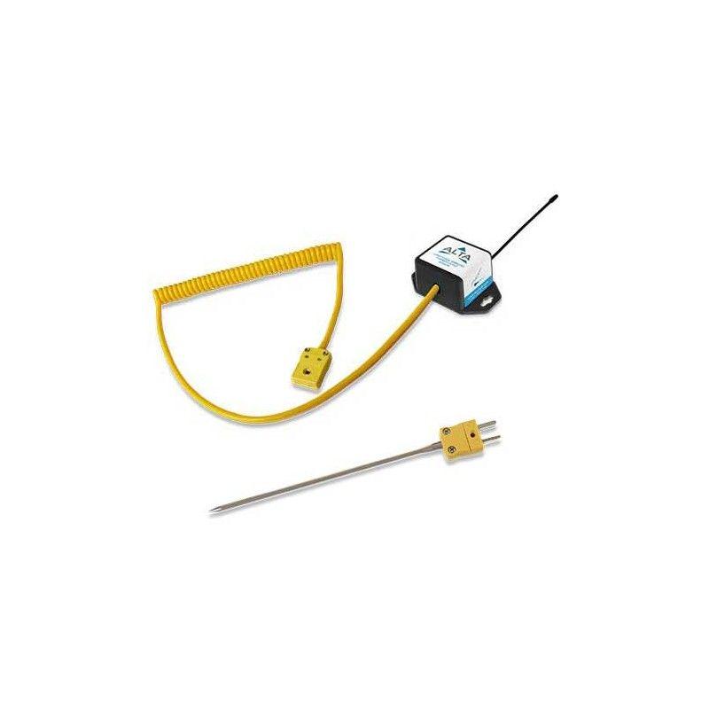 ALTA Capteur thermocouple sans fil (type K à connexion rapide avec sonde) - Alimenté par pile à monnaie (868MHz)