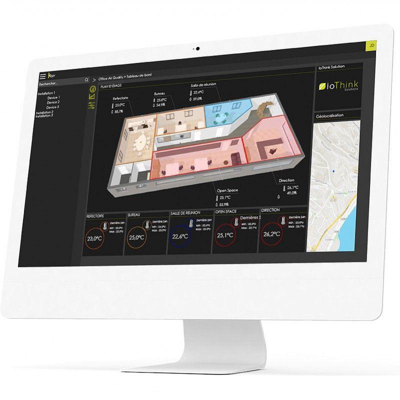 Suite IoT Kheiron pour visualiser les données de vos capteurs sans fil IoT