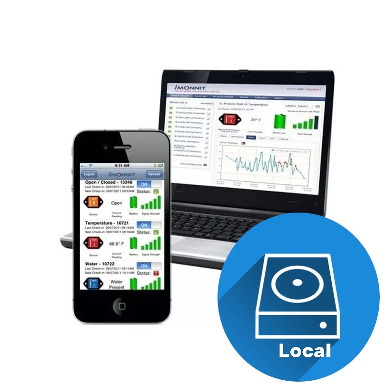 Logiciel iMonnit Enterprise (installation locale)