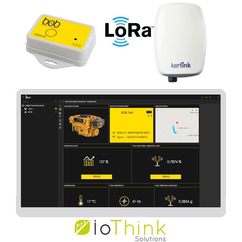 Bob Assistant est connecté sans fil à la passerelle LoRa afin de transférer les données vers la plate-forme Kheiron