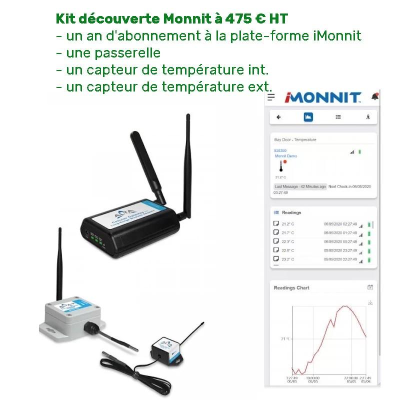 Kit de démonstation Monnit prêt à l'emploi avec 2 capteurs de température