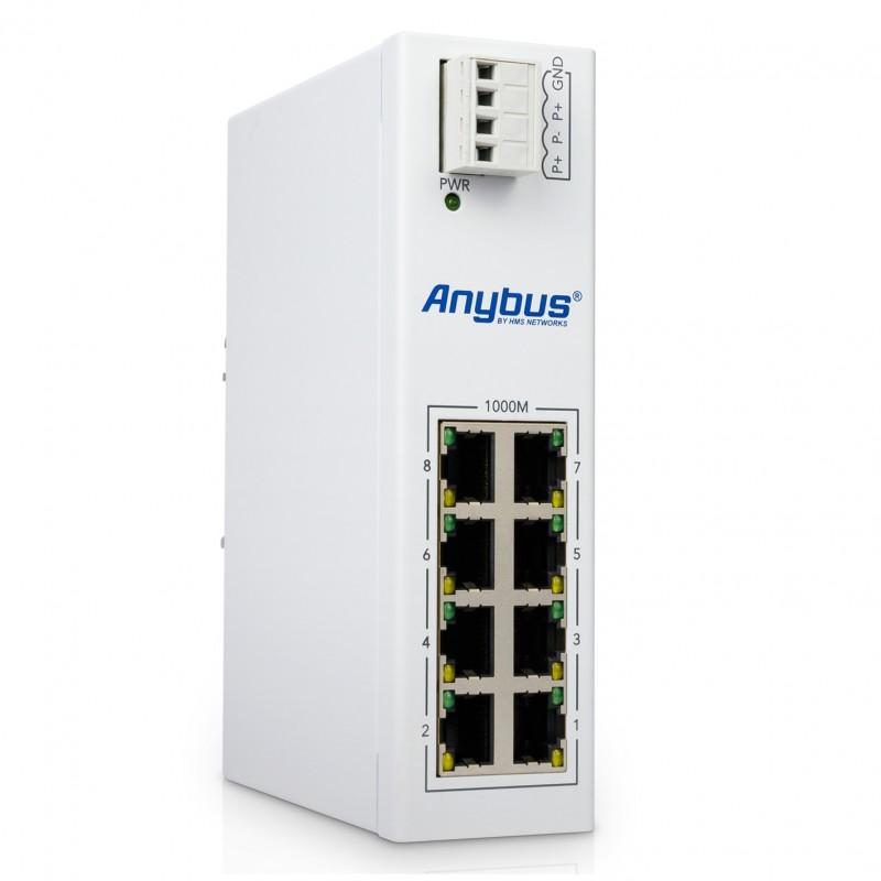 Anybus L2 Switch Industriel 8 ports Gigabit à double alimentations