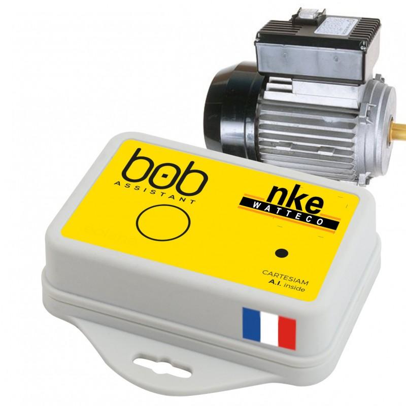 NKE Watteco Bob Assistant capteur vibration avec intelligence artificielle pour la maintenance préventive
