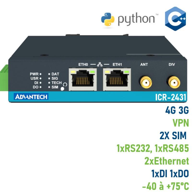 Advantech routeur industriel 4G LTE