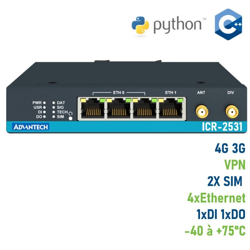 Mini routeur industriel 4G LTE Advantech ICR-2531