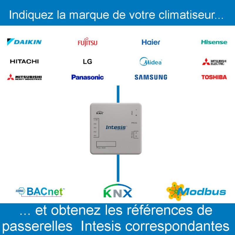 Passerelle Intesis pour climatiseur, trouver les références Intesis pour votre marque de climatiseur