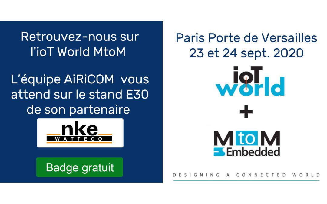 Salon IoT World MtoM à Paris – Sept 23-24 2020