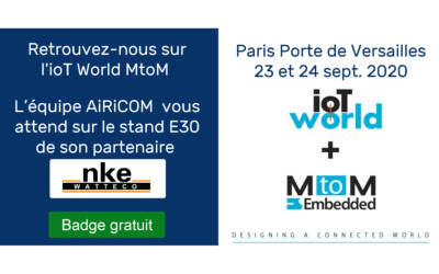 Salon IoT World MtoM à Paris – Sept 23-24 2020