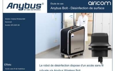 Anybus Bolt utilisé pour connecté un robot de désinfection au réseau