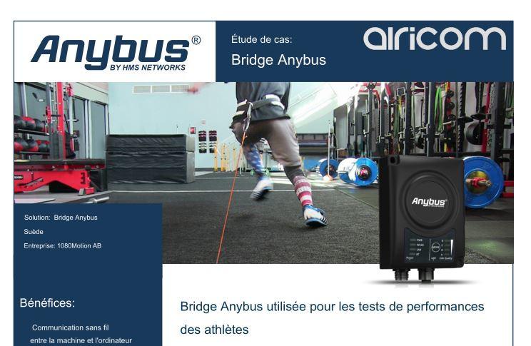 Anybus Bridge (pont réseau sans fil) utilisé pour suivre la performance des athlètes
