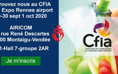 CFIA à Rennes annulé les 29-30 sept 1 oct 2020