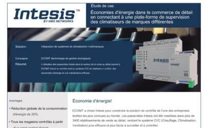 Contrôle à distance des systèmes de climatisation de 3400 magasins pour économiser l'énergie avec Intesis