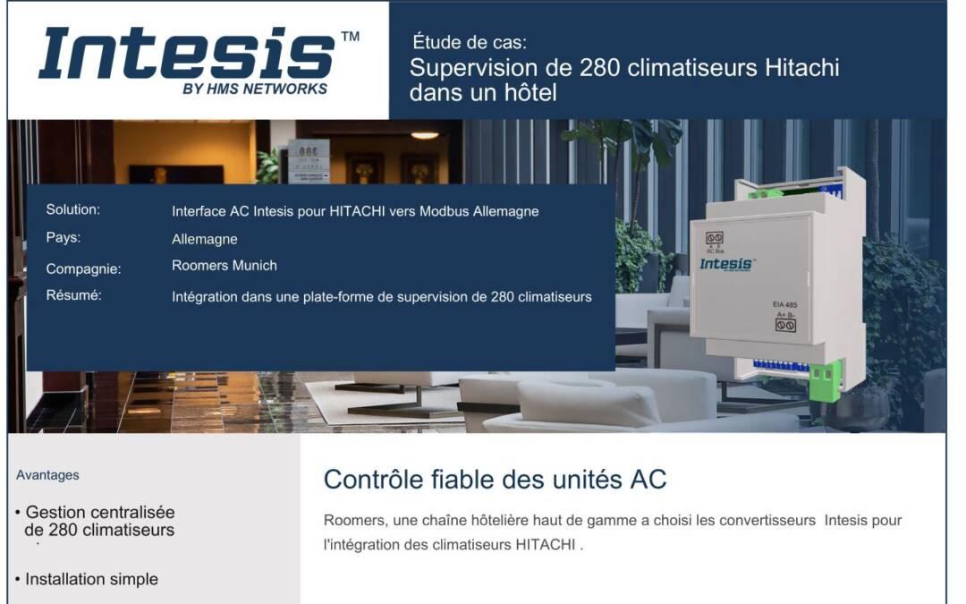 Contrôle à distance des systèmes de climatisation Hitachi de 280 chambres avec une passerelle Modbus d'Intesis